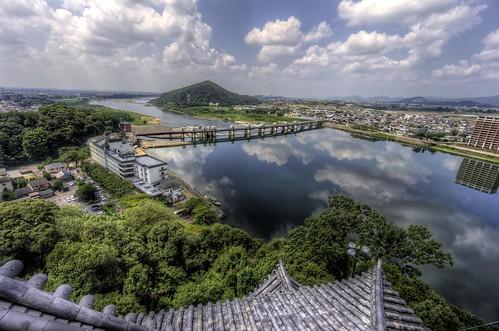 japan day cloudy inuyama