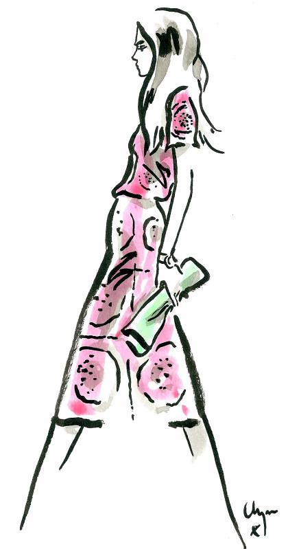 Burberry SS14 Cara Delevingne Clym Evernden Illustrations