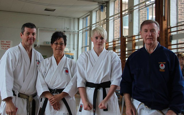 Lyndsay Daly after achieving the rank of Shodan