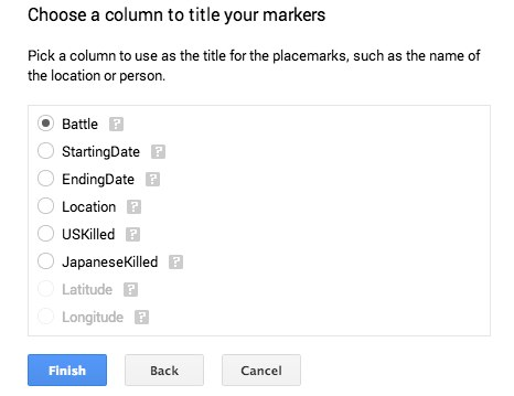Titles for Google Map Engine Lite
