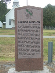 Baptist Mission Historic Marker