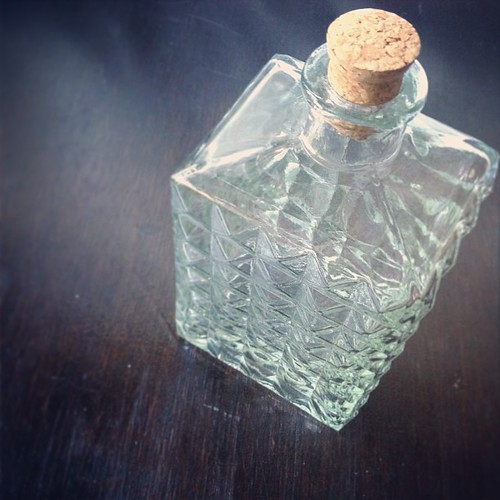 Arriving soon: vintage glass decanter. #vintagesoupshop