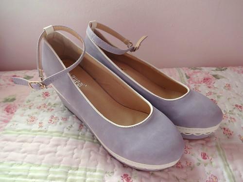 lavender platform shoes