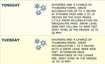 Winter Weather Warning for WA 9/30/13