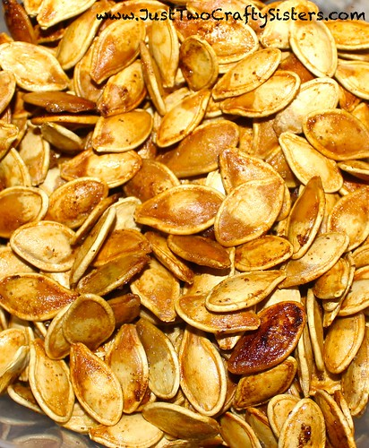 Simple classic roasted pumpkin seeds