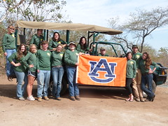 Swaziland study abroad participants pause for a group photo at the Mbuluzi Game Reserve.