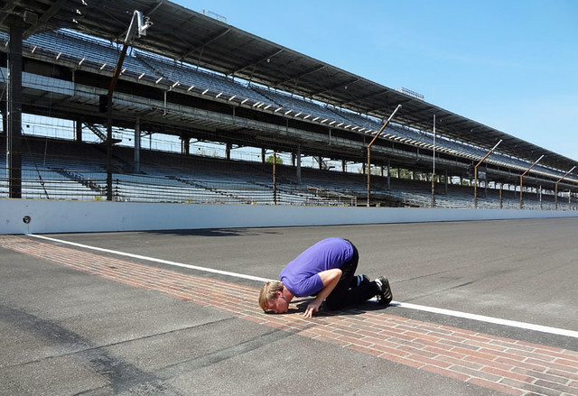 kissing-the-bricks-indy-500