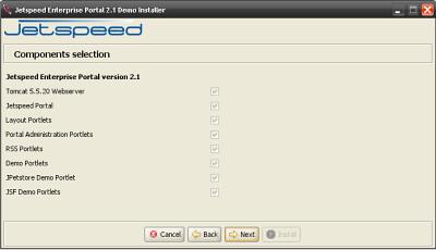 Jetspeed 2.1 Installer