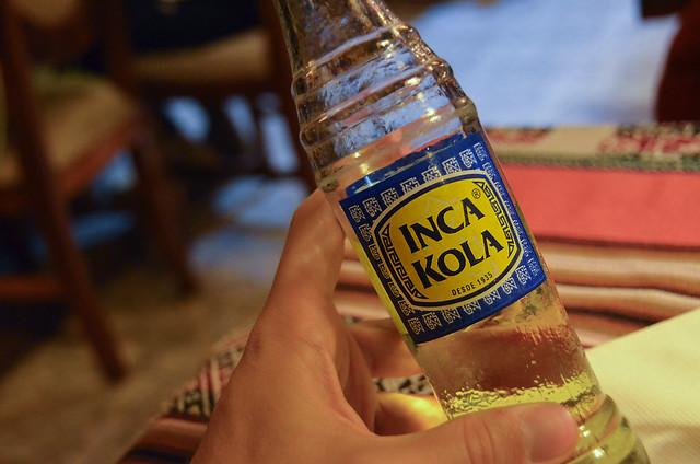 Botella de Inca Kola