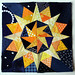 Starry night Cactus Compass block by wombatquilts