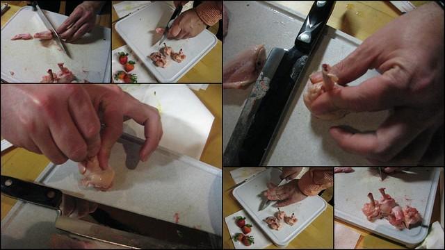 Making Chicken Lollipops