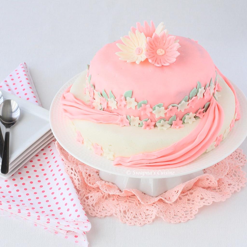 Swapna's Cuisine: Two-Tier Birthday Cake with Marshmallow ...