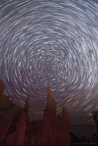 Mono Lake Star Trails Bicolor
