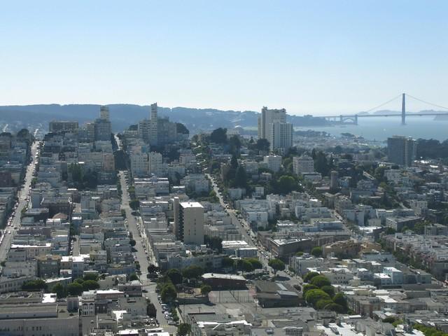 Widok na miasto - w oddali Golden Gate Bridge