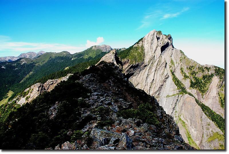 雪山聖稜線(From布秀蘭西南望)