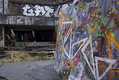 Graffuturism Piece in St. Peter's Seminary