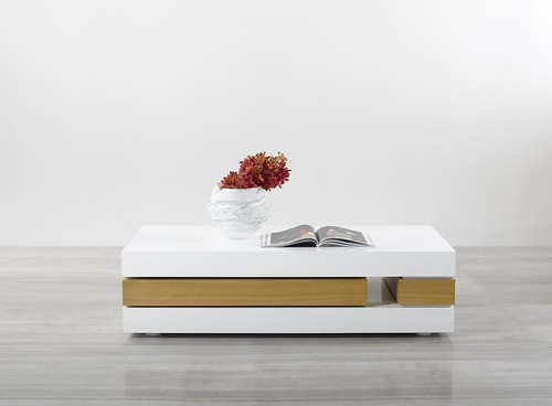 modern design coffee table white lacquer