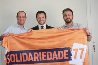 Vereador Luiz Neder, Sandro Wagner e o secretário-geral Alexandre Pereira