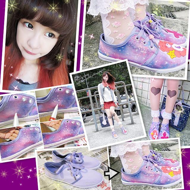 手繪鞋教學2
