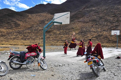 Monks Playing Basketball.