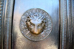 Lion Head on the Door of Aachen Cathedral
