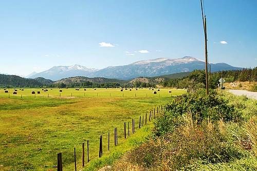Farmland in Kleena Kleene, Chilcotin, British Columbia