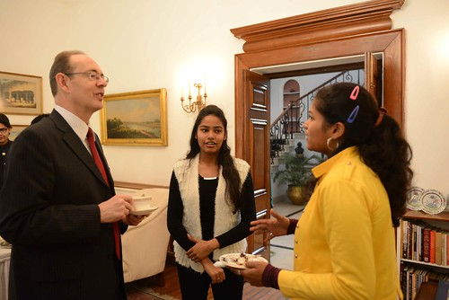 Students of Janki Devi College meets the British High Commisisoner