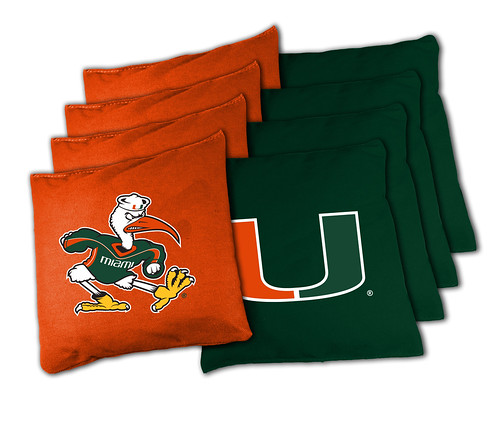 Miami Hurricanes Cornhole Bags