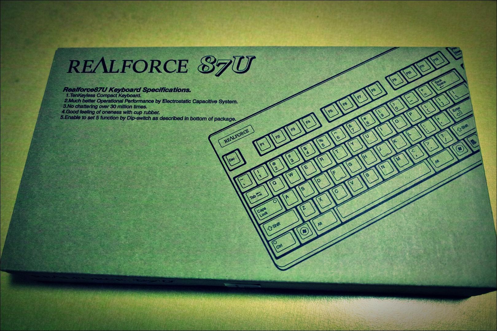 리얼포스 키보드 상자-'Realforce 87u YF110S'