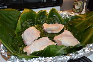 Add (4) organic chicken thighs