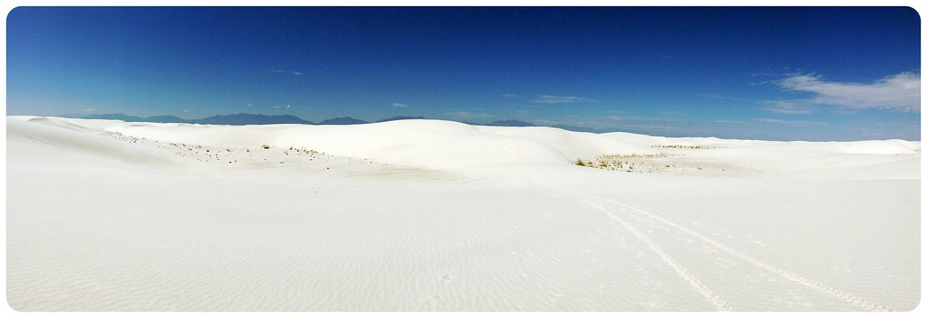 White Sands New Mexico panorama