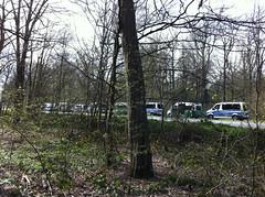 Polizeischlange zur Besetzung