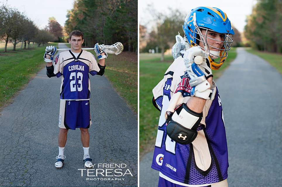 cary academy senior, lacrosse senior portrait