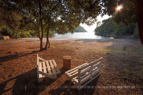 trees sunset beach bench island bay sand sitting croatia korcula istruga