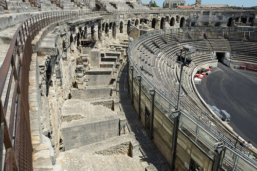 nimes languedoc france europe romanremains