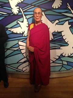 Dalai Lama figure at Madame Tussauds London