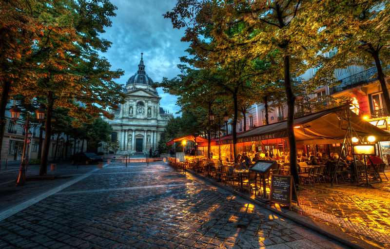 La Sorbonne in Evening