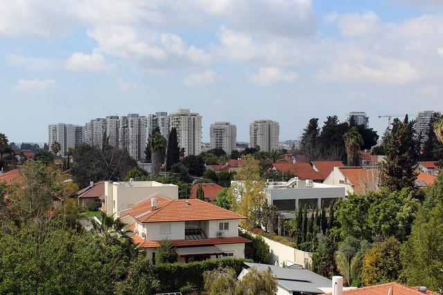 Blick vom Dach über Rehovot (zu Besuch bei einer Kollegin und ihrem Mann)