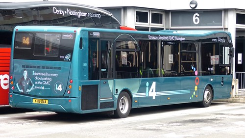 YJ16 DAA 'trentbarton' No. 99 'i4' Optare MetroCity V1080MC /4 on Dennis Basford's railsroadsrunways.blogspot.co.uk'