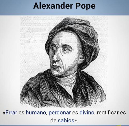 Errar es humano, perdonar es divino, rectificar es de sabios. Alexander Pope #InstitutoTALADRIZ