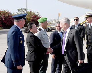 Secretary of Defense Jim Mattis Arrives in Israel, April 20, 201