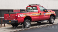 FDNY Buildings Unit Vehicle, Blissville, Queens, New York City