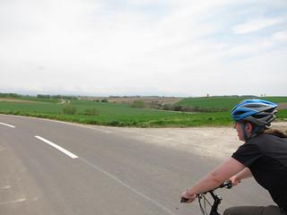 Biking around Biei, Japan
