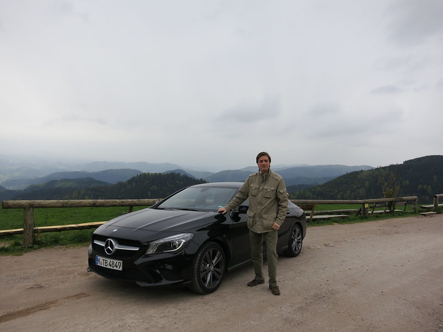 Mercedes CLA 200 in the Black Forest