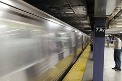 Photo of New York City subway station.