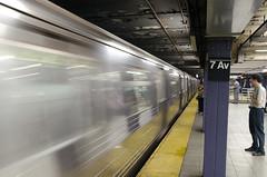Photo of New York City subway station.