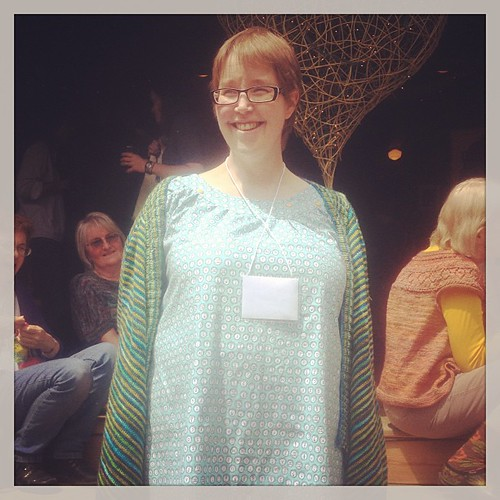 Another smock; this one made by Seanna, who hand embroidered some of the typewriter keys on the yoke! #squamartworkshops
