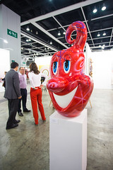 """Sculpture by Kenny Scharf: Squirtz (Red), 2013 (enamel, rhinestone and fiberglass)"" / Paul Kasmin Gallery / Art Basel Hong Kong 2013 / SML.20130523.6D.14057"