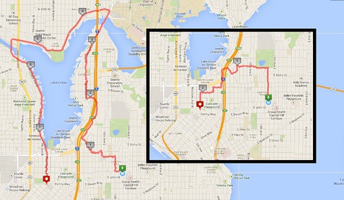 Yesterday's awesome walks, 7.82 miles in 2:08 and 2.31 miles in 43 minutes by christopher575