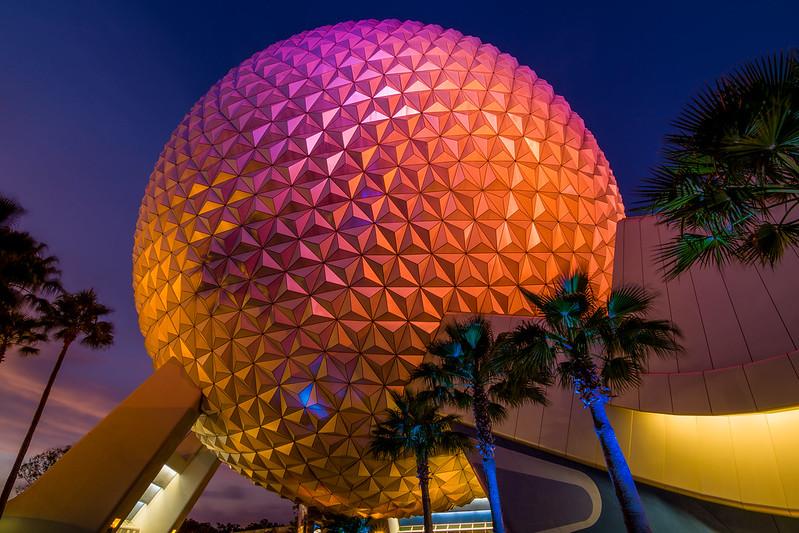 Spaceship Earth Blue Hour